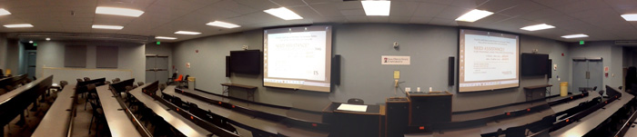 panoramic view of classroom