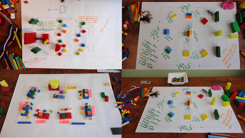Figure 4: Examples of environments  designed by focus group participants